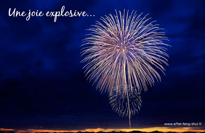 Une joie explosive