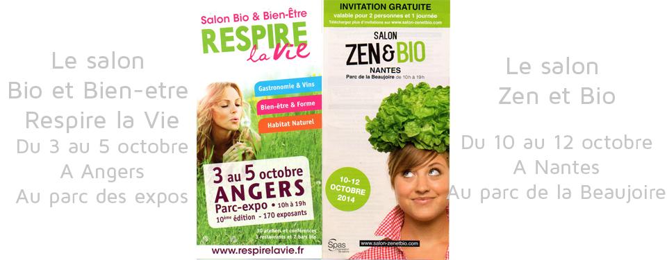 Salons Bio pour Effet Feng Shui à Angers et à Nantes