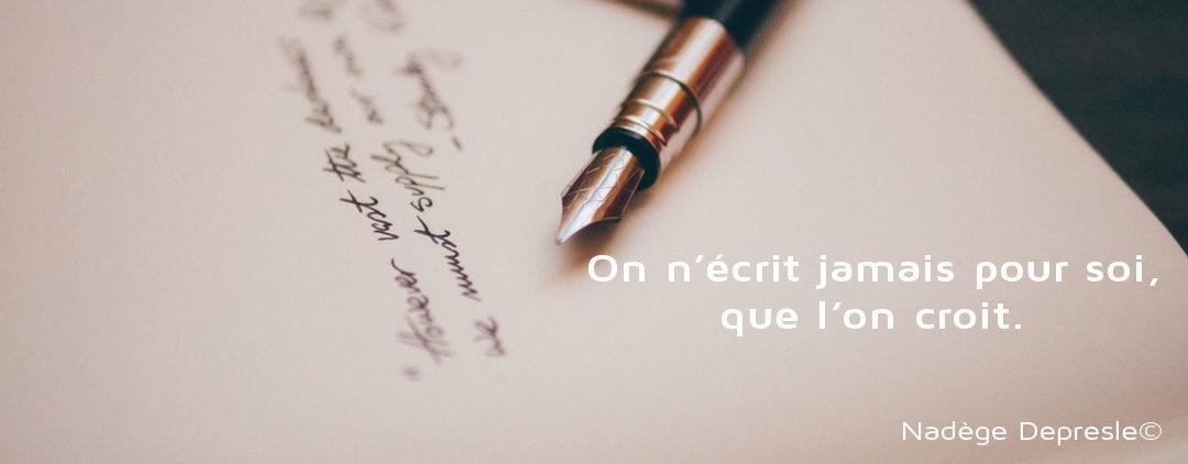 J'aime écrire